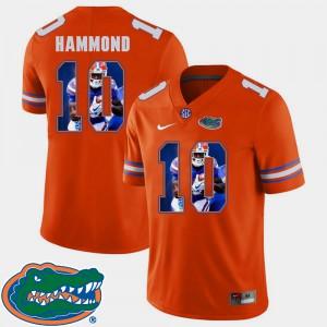 Mens Gator #10 Josh Hammond Orange Pictorial Fashion Football Jersey 599479-161