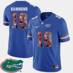 For Men Gators #10 Josh Hammond Royal Pictorial Fashion Football Jersey 308914-732