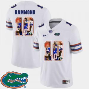 For Men's Florida #10 Josh Hammond White Pictorial Fashion Football Jersey 987463-456