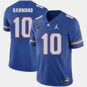 Mens Florida Gators #10 Josh Hammond Royal Jordan Brand Replica 2018 Game Jersey 669673-684