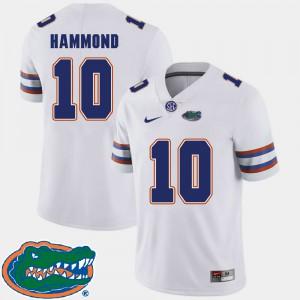 Men's Florida Gator #10 Josh Hammond White College Football 2018 SEC Jersey 945178-161