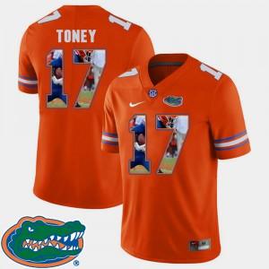 Men's Gators #17 Kadarius Toney Orange Pictorial Fashion Football Jersey 326227-496