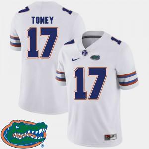 Men's Florida #17 Kadarius Toney White College Football 2018 SEC Jersey 886717-328
