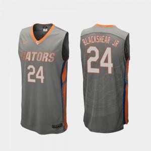 Men Gator #24 Kerry Blackshear Jr. Gray Replica College Basketball Jersey 222897-183