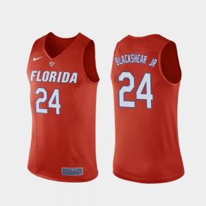 For Men's Florida #24 Kerry Blackshear Jr. Orange Replica College Basketball Jersey 755525-621