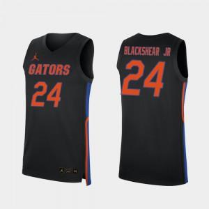 Mens Gator #24 Kerry Blackshear Jr. Black Replica 2019-20 College Basketball Jersey 905340-535