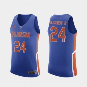 Men's Florida Gator #24 Kerry Blackshear Jr. Royal Authentic College Basketball Jersey 541783-887