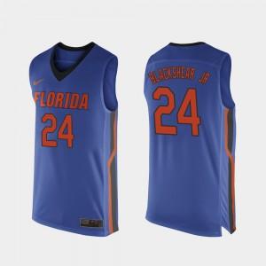 Men Florida #24 Kerry Blackshear Jr. Royal Blue Replica College Basketball Jersey 314464-325