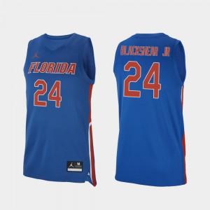 Men's UF #24 Kerry Blackshear Jr. Royal Replica College Basketball Jersey 620565-115