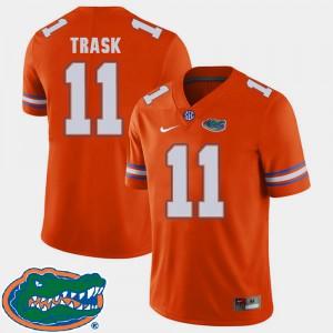 Men's Florida #11 Kyle Trask Orange College Football 2018 SEC Jersey 773637-409