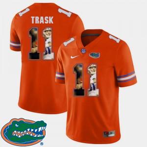 Mens Gator #11 Kyle Trask Orange Pictorial Fashion Football Jersey 587710-745