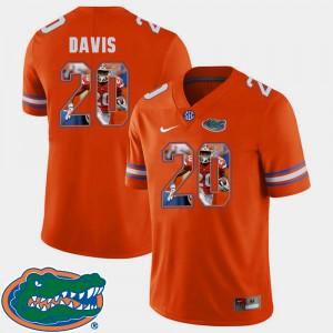 For Men's Gator #20 Malik Davis Orange Pictorial Fashion Football Jersey 555199-950