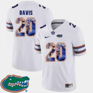 For Men Gators #20 Malik Davis White Pictorial Fashion Football Jersey 285560-665