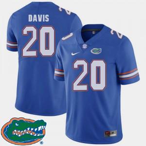 For Men's University of Florida #20 Malik Davis Royal College Football 2018 SEC Jersey 558989-845