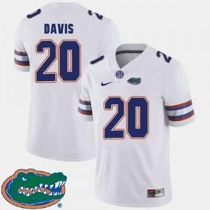 Men Florida #20 Malik Davis White College Football 2018 SEC Jersey 915983-189