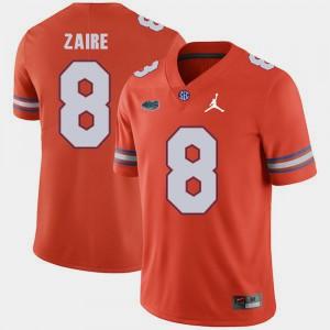 Men Gators #8 Malik Zaire Orange Jordan Brand Replica 2018 Game Jersey 432411-896