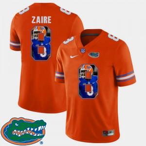 For Men Florida #8 Malik Zaire Orange Pictorial Fashion Football Jersey 870542-487