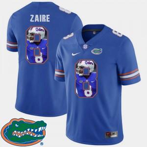 For Men Gators #8 Malik Zaire Royal Pictorial Fashion Football Jersey 215812-288