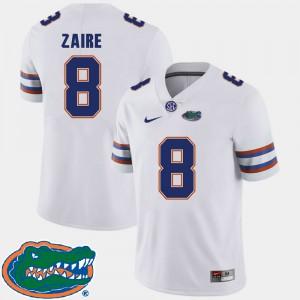 Men Florida Gator #8 Malik Zaire White College Football 2018 SEC Jersey 921174-128