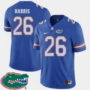 Men's Florida Gator #26 Marcell Harris Royal College Football 2018 SEC Jersey 337301-689
