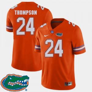 Mens Florida #24 Mark Thompson Orange College Football 2018 SEC Jersey 392863-491