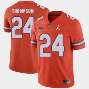 For Men's Gator #24 Mark Thompson Orange Jordan Brand Replica 2018 Game Jersey 998465-640
