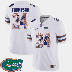 Men's Florida #24 Mark Thompson White Pictorial Fashion Football Jersey 831616-113
