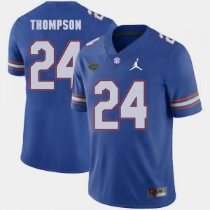 Mens Florida #24 Mark Thompson Royal Jordan Brand Replica 2018 Game Jersey 587146-184