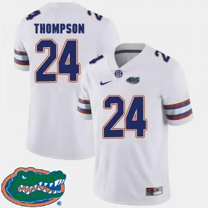 Men University of Florida #24 Mark Thompson White College Football 2018 SEC Jersey 774837-486