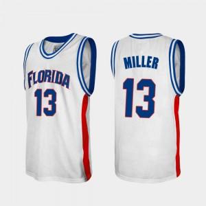 Men's Florida #13 Mike Miller White Alumni College Basketball Jersey 599815-628