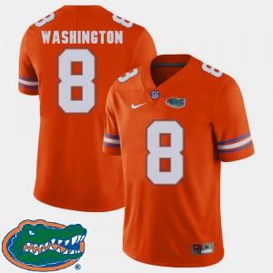 Mens University of Florida #8 Nick Washington Orange College Football 2018 SEC Jersey 159783-471