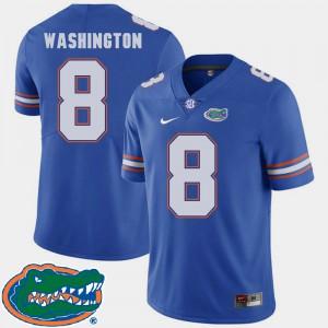 Mens Florida Gator #8 Nick Washington Royal College Football 2018 SEC Jersey 957060-685