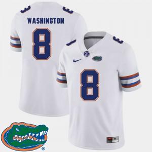 For Men UF #8 Nick Washington White College Football 2018 SEC Jersey 973084-577
