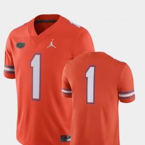 Mens University of Florida #1 Orange College Football 2018 Game Jersey 422994-598