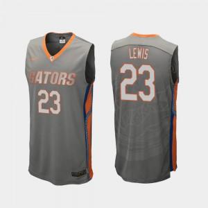 Men Florida Gator #23 Scottie Lewis Gray Replica College Basketball Jersey 625502-587