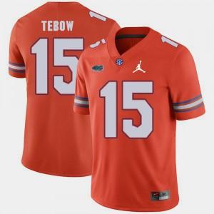 Men UF #15 Tim Tebow Orange Jordan Brand Replica 2018 Game Jersey 496603-992