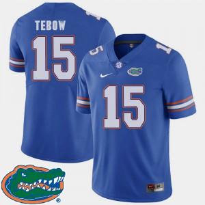 For Men's Gators #15 Tim Tebow Royal College Football 2018 SEC Jersey 122109-511
