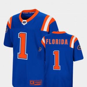 Kids Florida Gator #1 Royal Foos-Ball Football Colosseum Jersey 979309-408